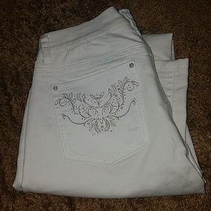 White house black market white slim leg jeans 4